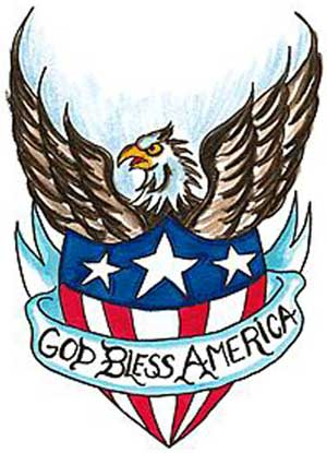 God Bless America - Beautiful Eagle Tattoo