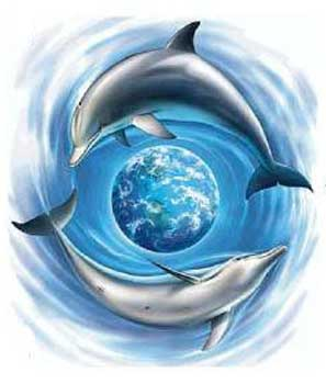 Dolphin Around the Earth - Dolphin Tattoo
