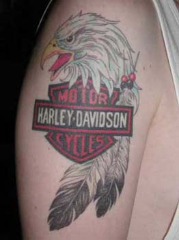 Motorcycle Harley Davidson Eagle Bike Tattoo