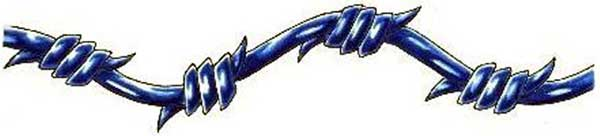 Blue Barbed Wire Armband Tattoo Flash