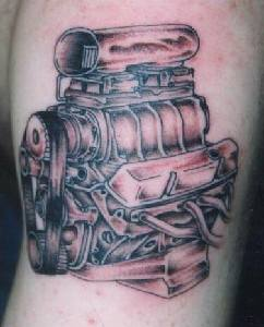Engine of Car Tattoo