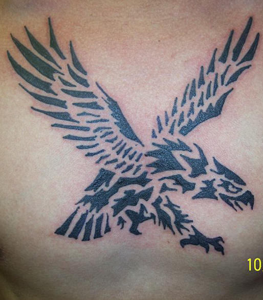 Trible Style Eagle Tattoo