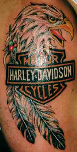 Motorcycle Harley Davidson Eagle Biker Tattoo