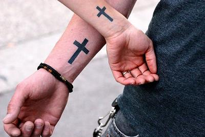 Cross Tattoo Arm