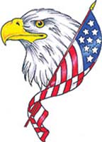White Eagle with American Flag - Eagle Tattoo