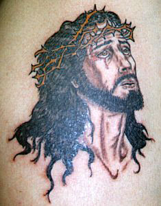 Jesus Praying - Christian Tattoo