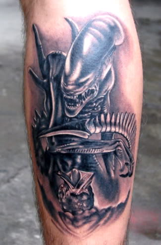 Alien Predator Tattoo