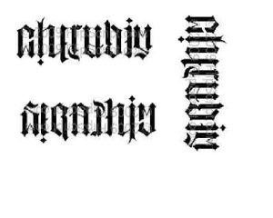 Ambigram Design For Body Art