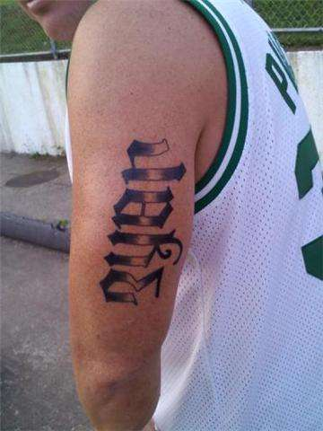Ambigram On Biceps For Men