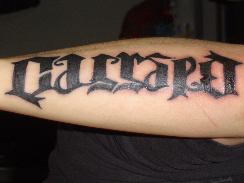 Ambigram Sleeve Tattoo