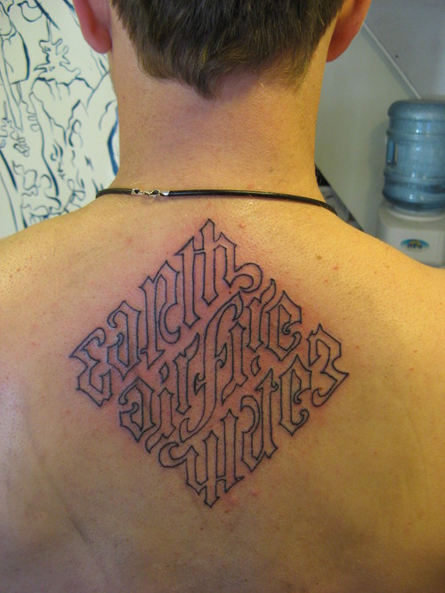 Ambigram Tattoo For Men