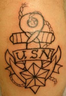 Anchor Outline Tattoo Design