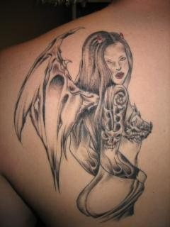Angel Devil Wings Tattoos