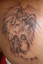 Angel & Kids Tattoo