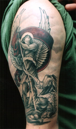 Angel Tattoo For Bicep