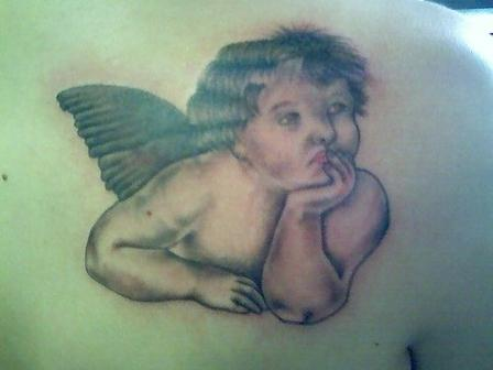 Angel Thinking Tattoo