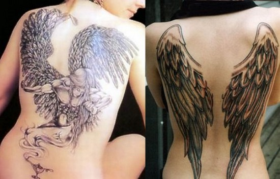 Angel Wing Tattoos For Cute Girls