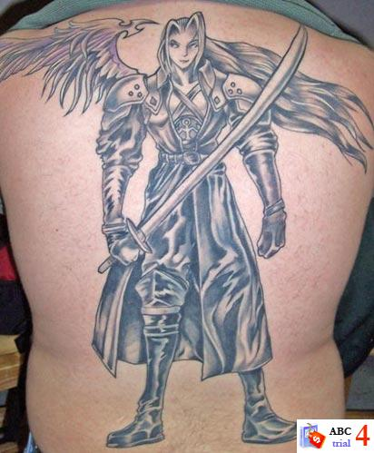 Tatto Idea on Angel With Sword Tattoos For Men   Tattoobite Com