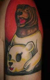 Bear Growling  Wild Bear Tattoo