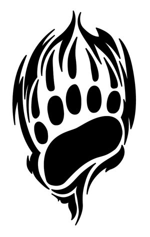 Bear Paw Prints Tattoo Sample