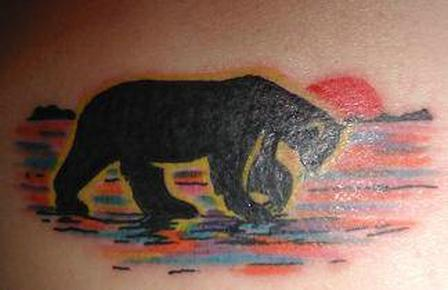 Bear Wandering Alone ~ Bear Tattoo