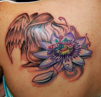 Beautiful Angel Tattoo Design
