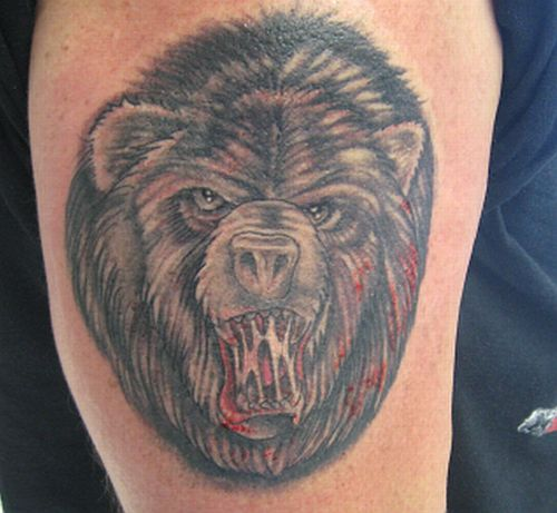 Blood And Bear Tattoo