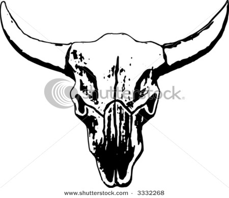 Cow skull tattoo flash - photo#11