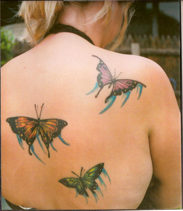 Butterfly Alien Tattoo Design For Girls