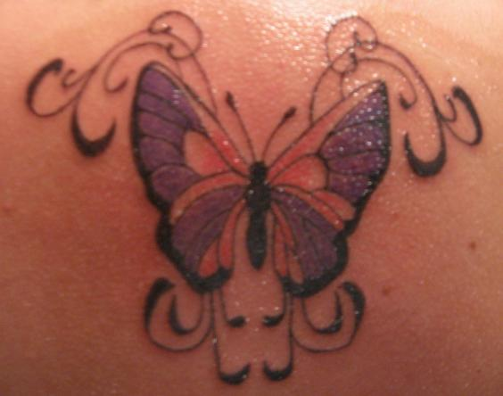 Butterfly Colorful Tattoo