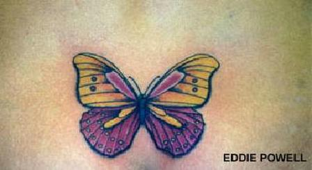 Colorful Butterfly Tattoo Image