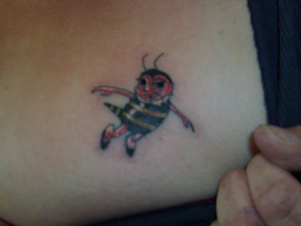 Dancing Bumblebee Tattoo