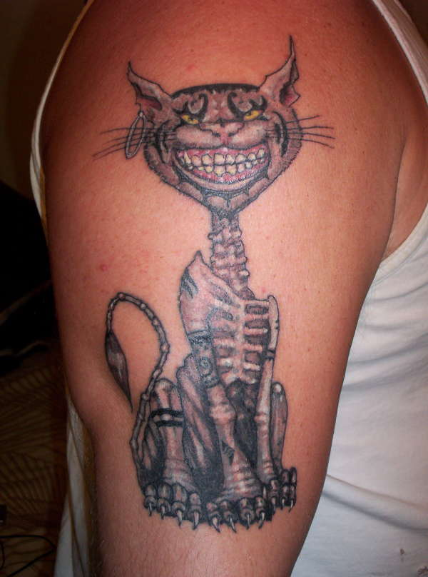 Demonic Cheshire Cat Tattoo
