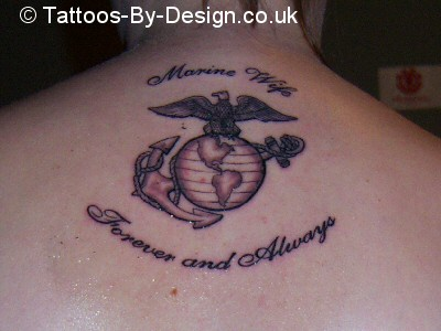 Eagle Globe Anchor Tattoo