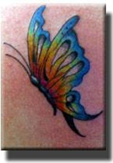 Elegant Coloured Butterfly Tattoo