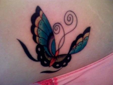 Elegant New Style Butterfly Tattoo