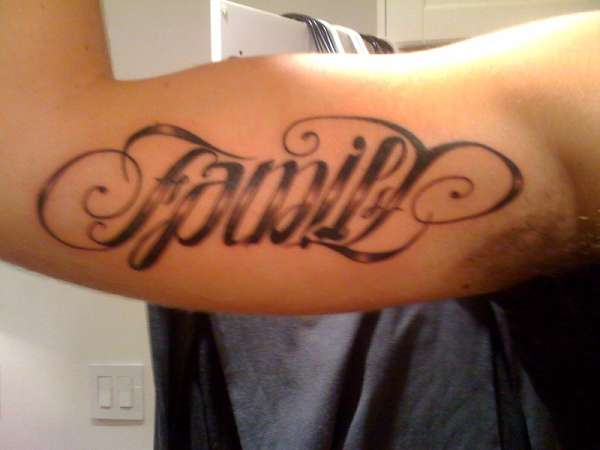 Family Ambigram Tattoo