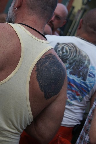 Grizzly Bear Tattoo On Back
