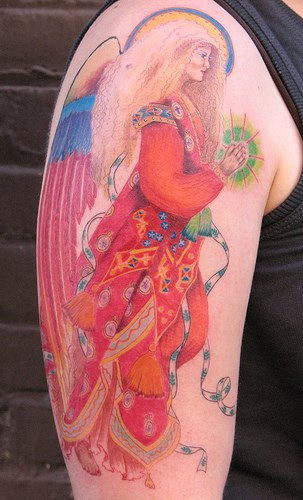 Guardian Angel On Bicep