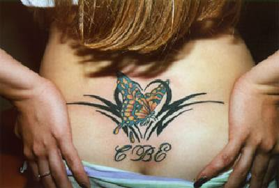 Hot Butterfly Tattoo