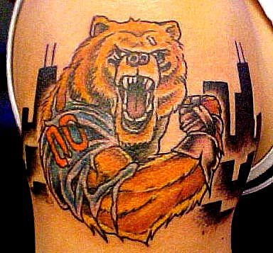 Macro Angry Bear Tattoo