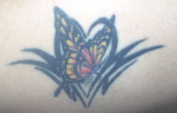 Modern Butterfly Tattoo