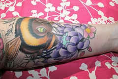 Queen Bumblebee Tattoo