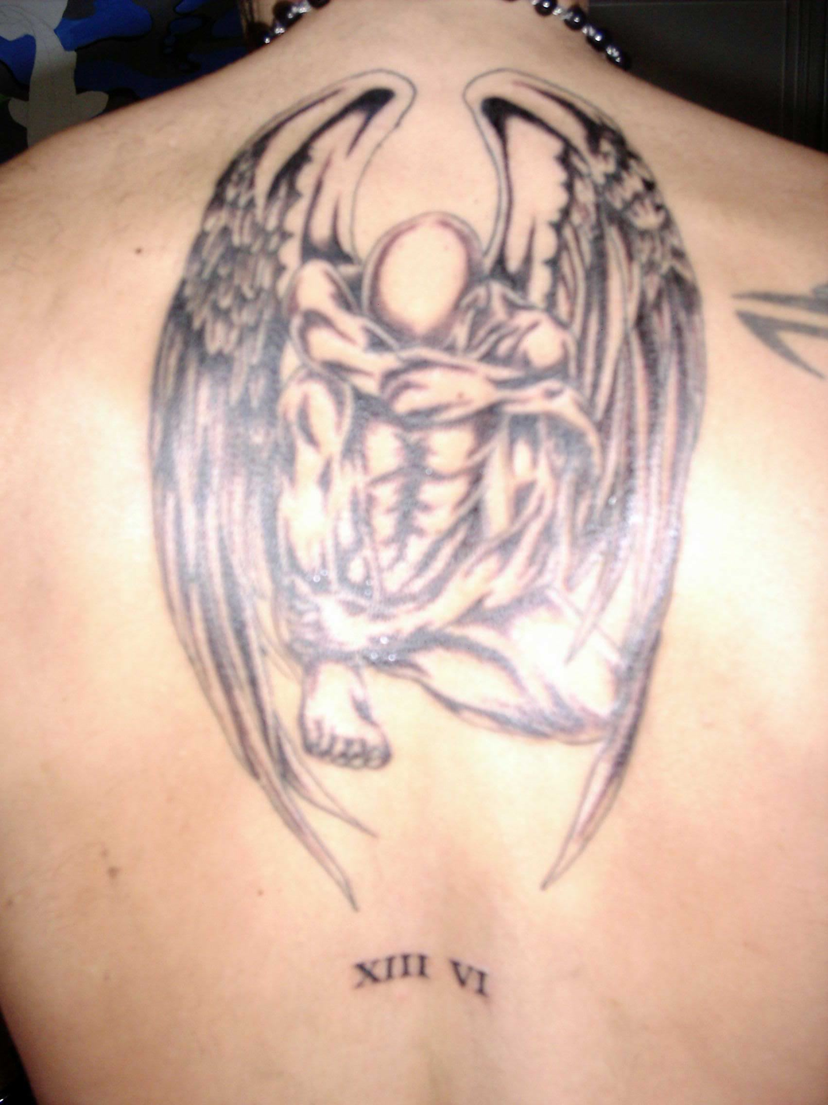 Sad Angel Tattoo