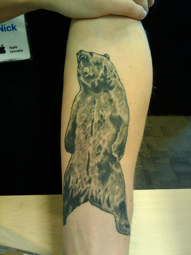 Standing Bear Tattoo On Arm