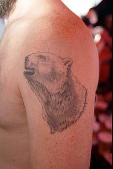 Tattoo Of A Polar Bear