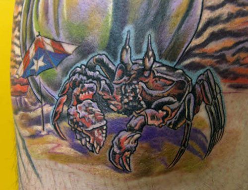 A Closeup of Crab Tattoo