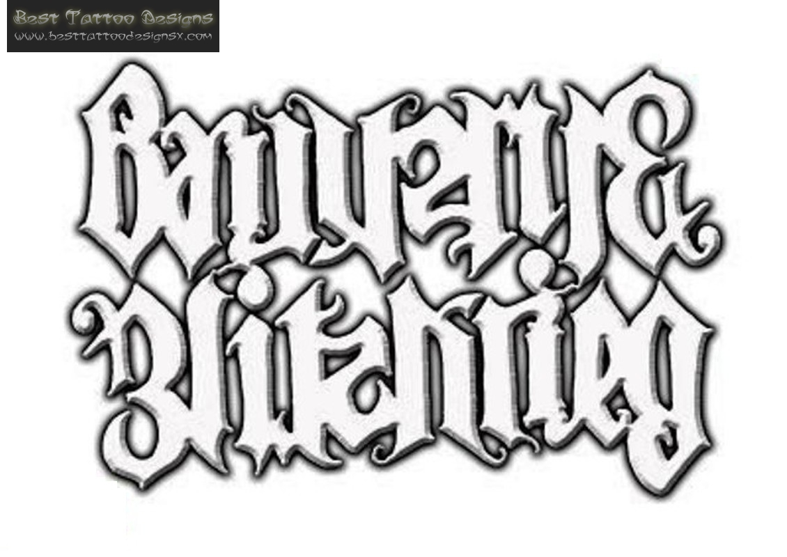 Ambigram Tattoo Desings For Body