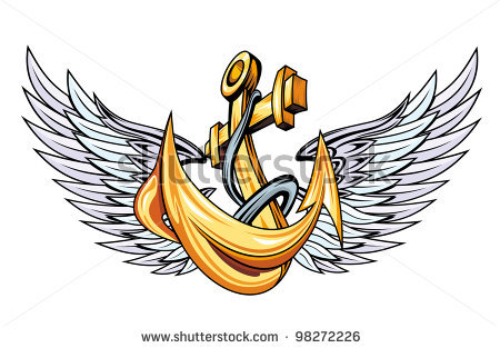 Anchor Tattoo With Wings