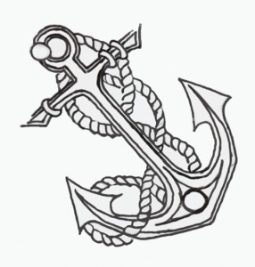 Awesome Anchor Symbol Tattoo Design